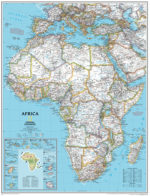 Africa Political Wall Map - National Geographic