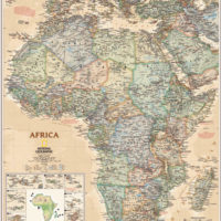 Africa Executive Antique Wall Map
