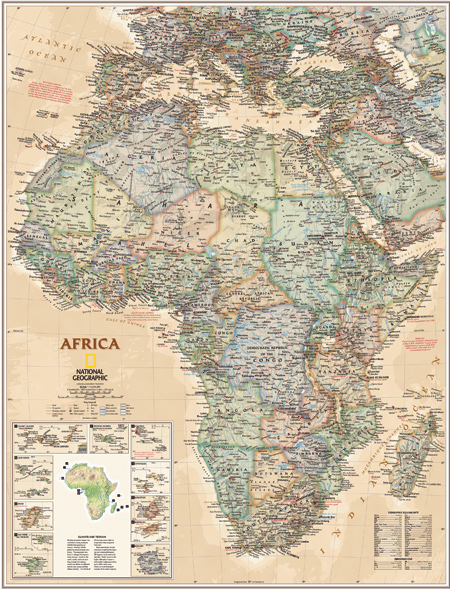 africa map national geographic