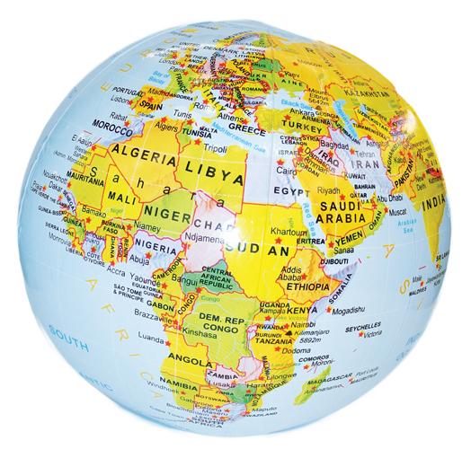 Inflatable Globe A Fun Plastic Globe MapStudio - Globe map of world