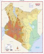 Kenya Physical Wall Map