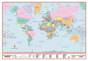 World Political Educational Wall Map