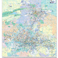 Gauteng Central, Pretoria Regional Wall Map