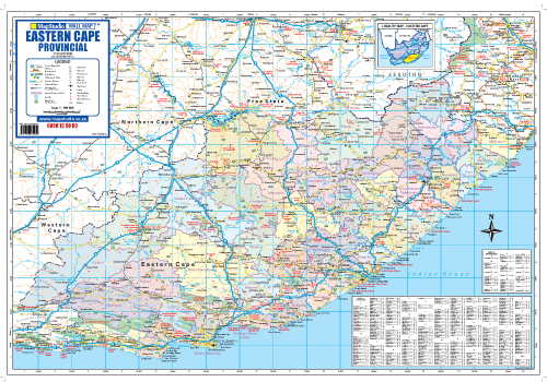 eastern cape provincial wall map mapstudio