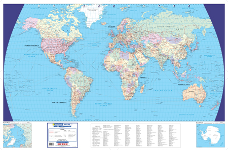 World Commercial Wall Map