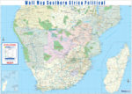Southern Africa Political Wall Map - Active Learning