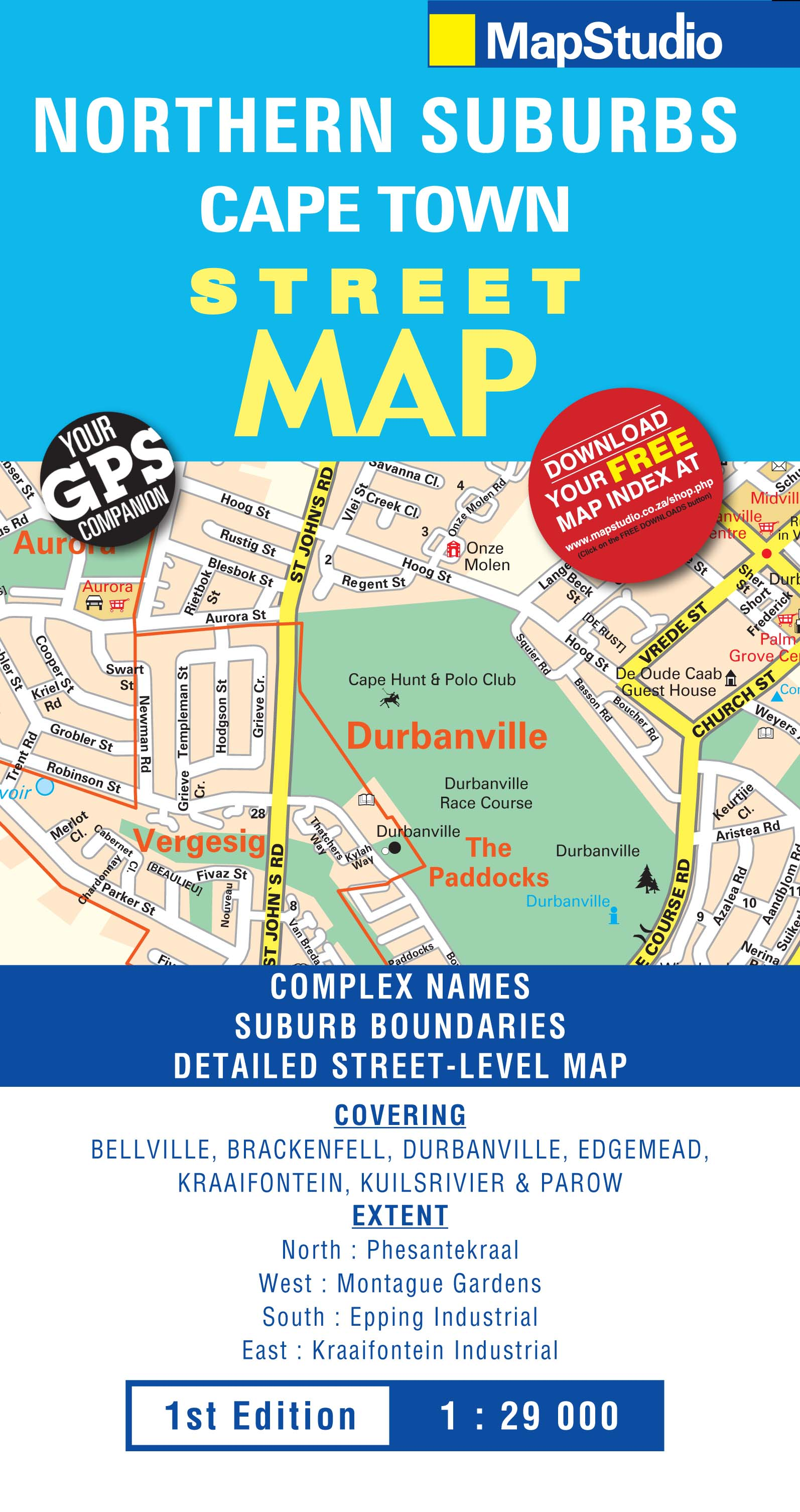 Northern Suburbs Cape Town Street Map