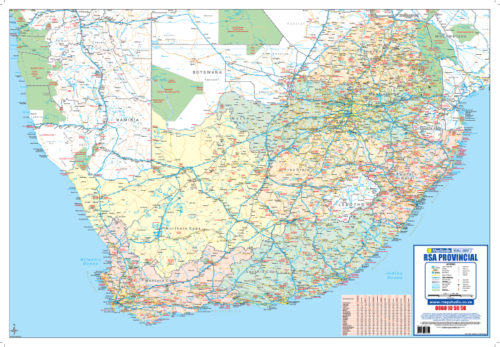 South Africa Poster Tube Map