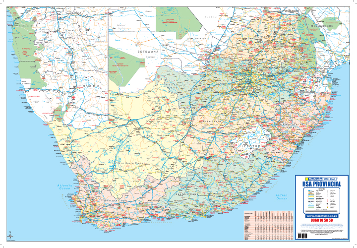 South Africa Poster Tube Map MapStudio