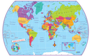 World Map Poster -Stickers