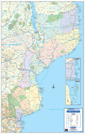 Comprehensive map covering the whole of Mozambique
