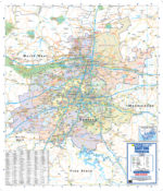 Gauteng Provincial Wall Map