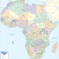 Africa Executive Political Wall Map