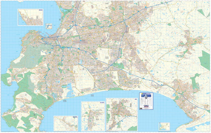 Cape Town Large Wall Map