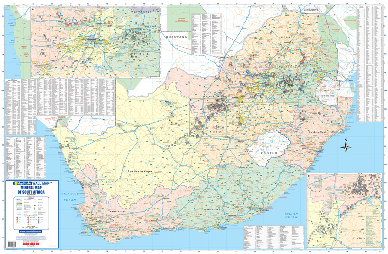 South africa mining minerals wall map mapstudio gumiabroncs Images