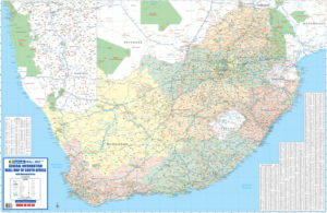 General Information Wall Map - South Africa
