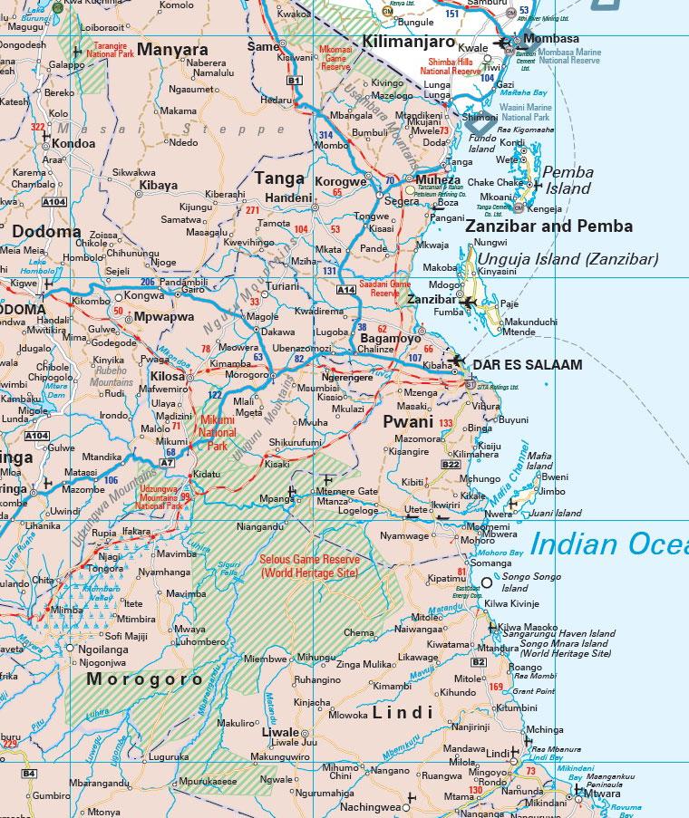 SADC Businessman's Wall Map -- MapStudio Sadc