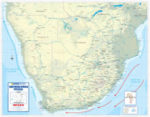 Southern Africa Physical Wall Map