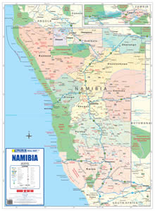 Namibia Political Wall Map