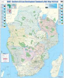 SADC (Southern Africa Development Community) Wall Map