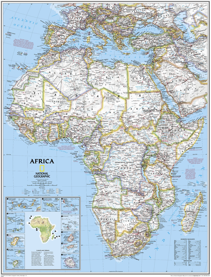 Africa Map National Geographic | Map Of Africa