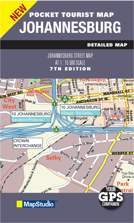 Johannesburg Pocket Map MapStudio