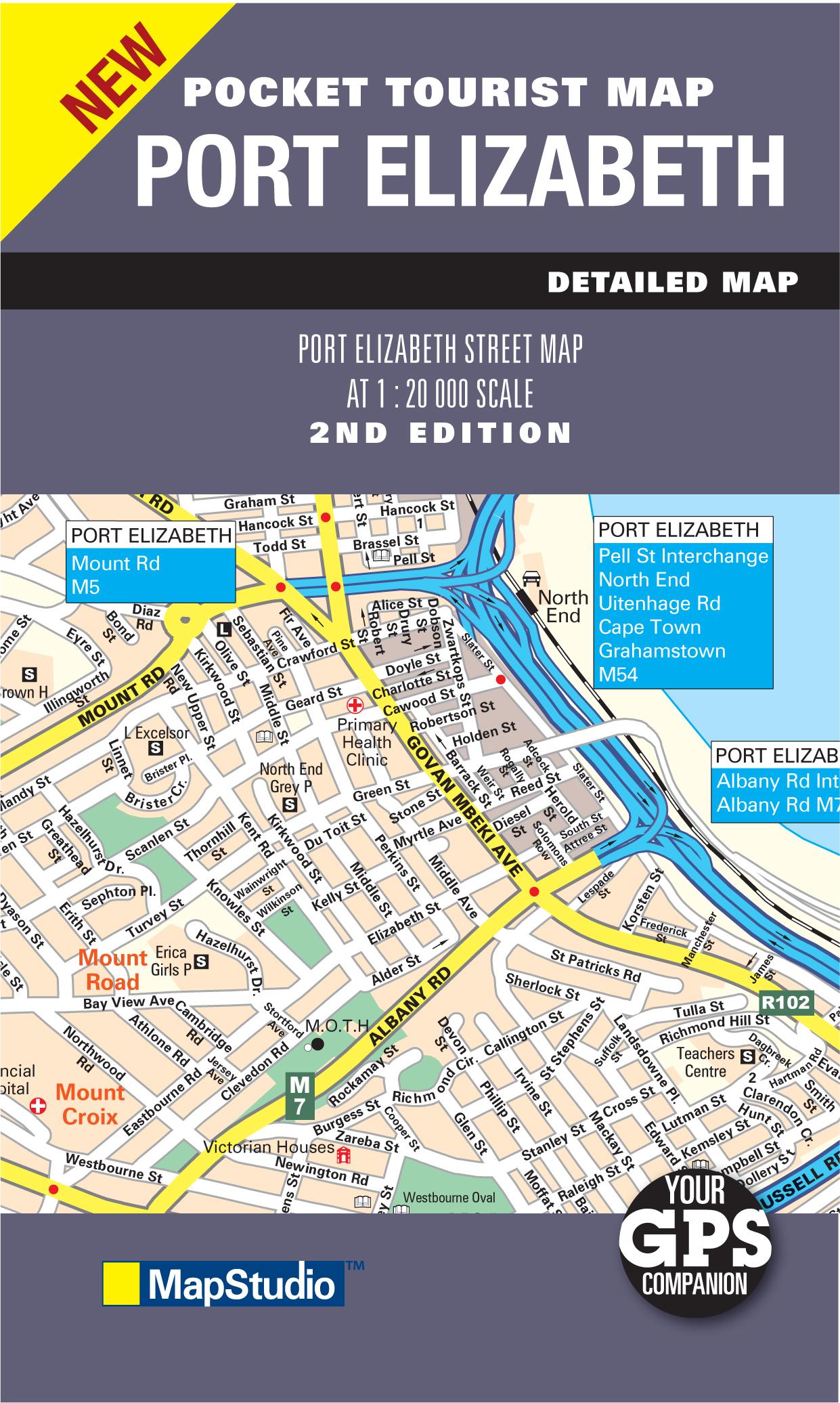 Port elizabeth pocket map mapstudio - Port elizabeth south africa map ...
