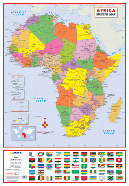 Africa Political Tube Poster Map