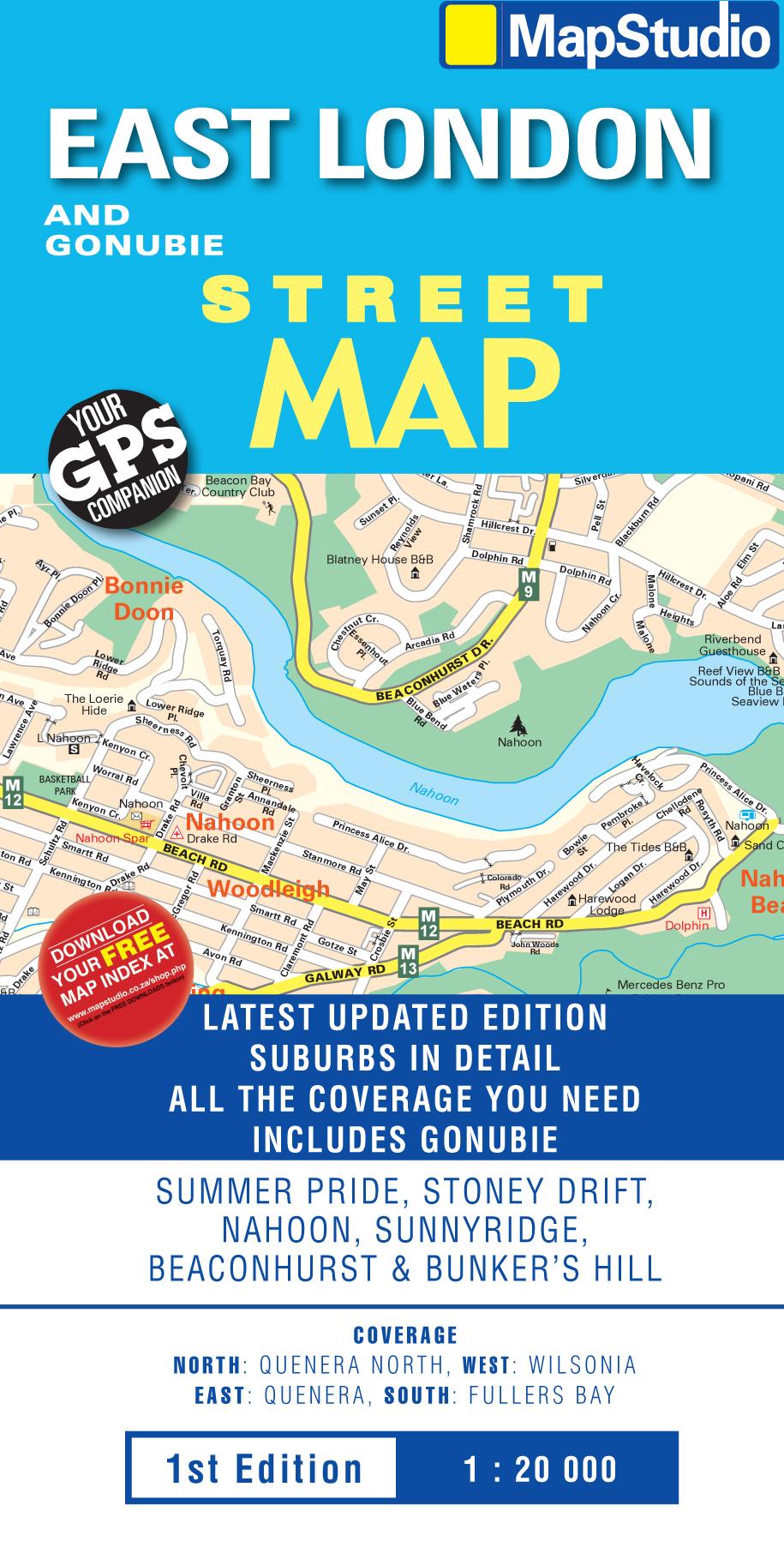 East London Gonubie Street Map MapStudio