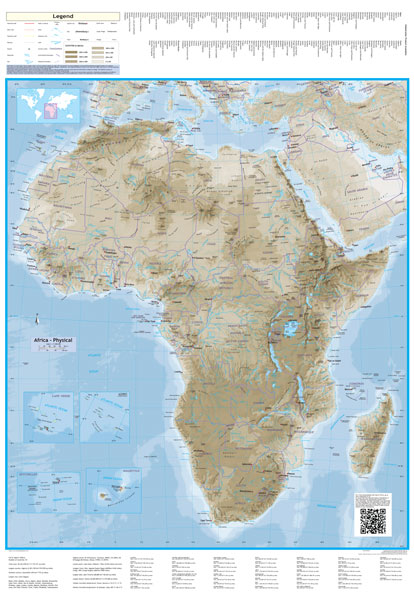 Africa Physical Map 2014 Africa Physical Globet...
