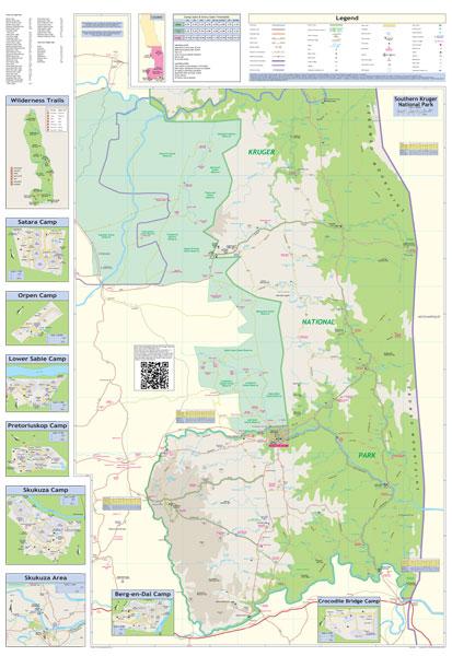 Kruger National Park Globetrotter Map Mapstudio
