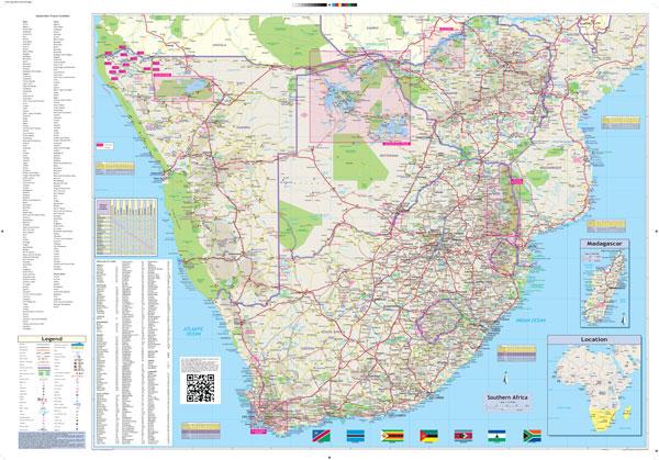 Southern Africa Globetrotter Map MapStudio