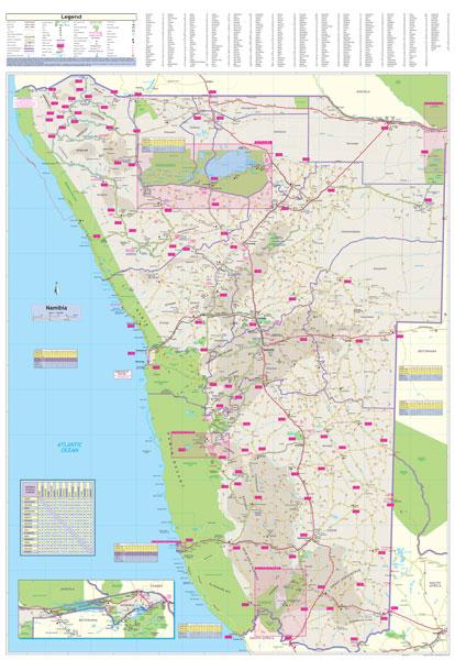 Namibia Globetrotter Map MapStudio - Namibia map