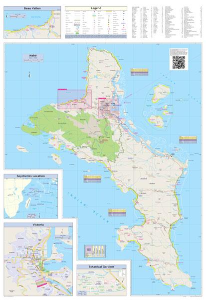 Seychelles Globetrotter Map MapStudio - Map of seychelles world