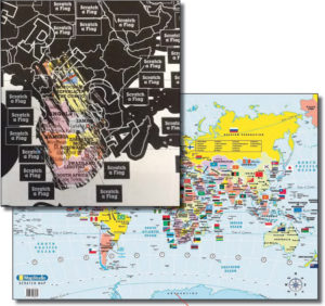 World Scratch Map Tubed Poster