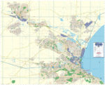 Port Elizabeth Large Wall Map
