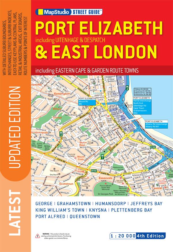 Port Elizabeth East London Street Guide MapStudio - London map guide