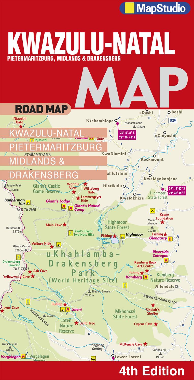 NatalPietermaritzburg Midlands Drakensberg Road Map