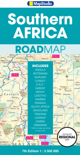 Southern Africa Road Map GPS points