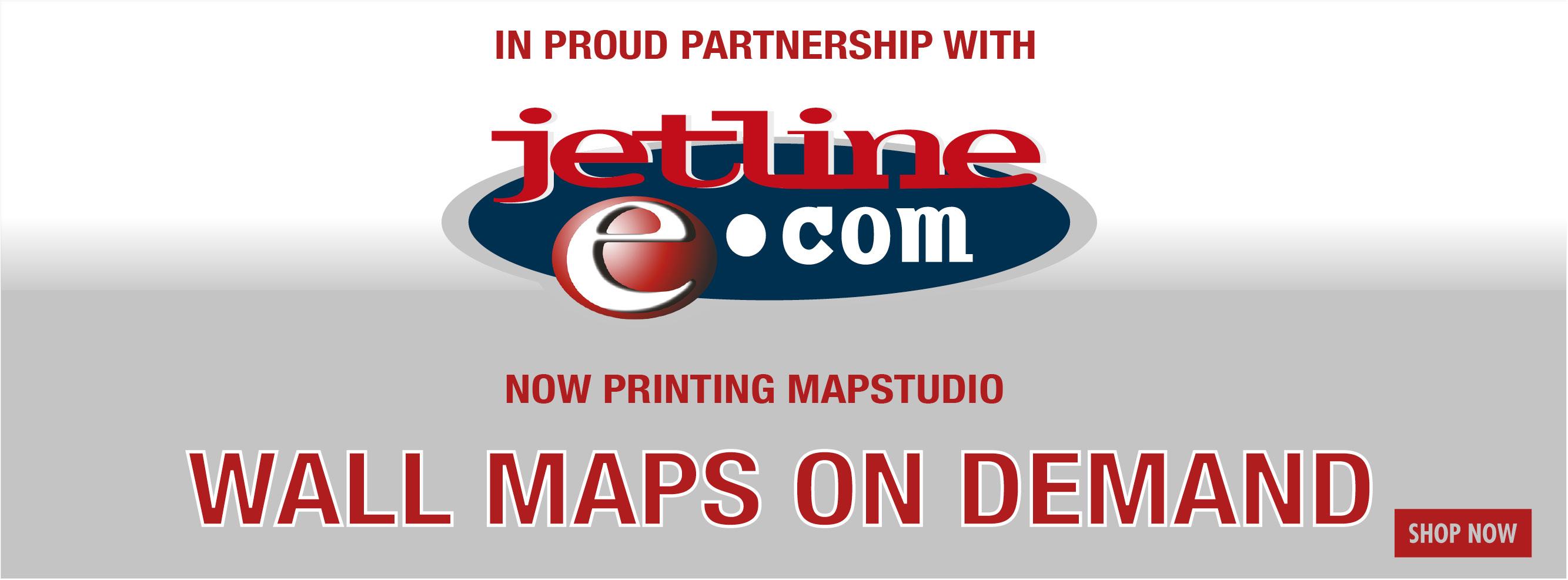 Jetline Mapstudio wall maps on demand